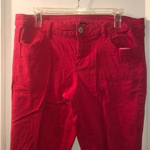 American eagle red jeggings